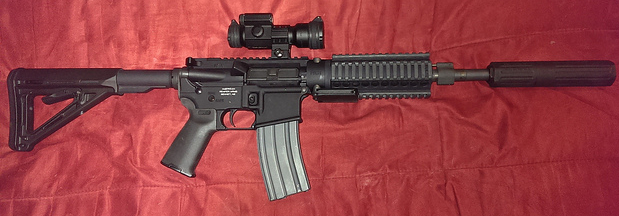 MGI Hydra configured as 5.56mm SBR, fitted with Huntertown Arms Kestrel 5.56